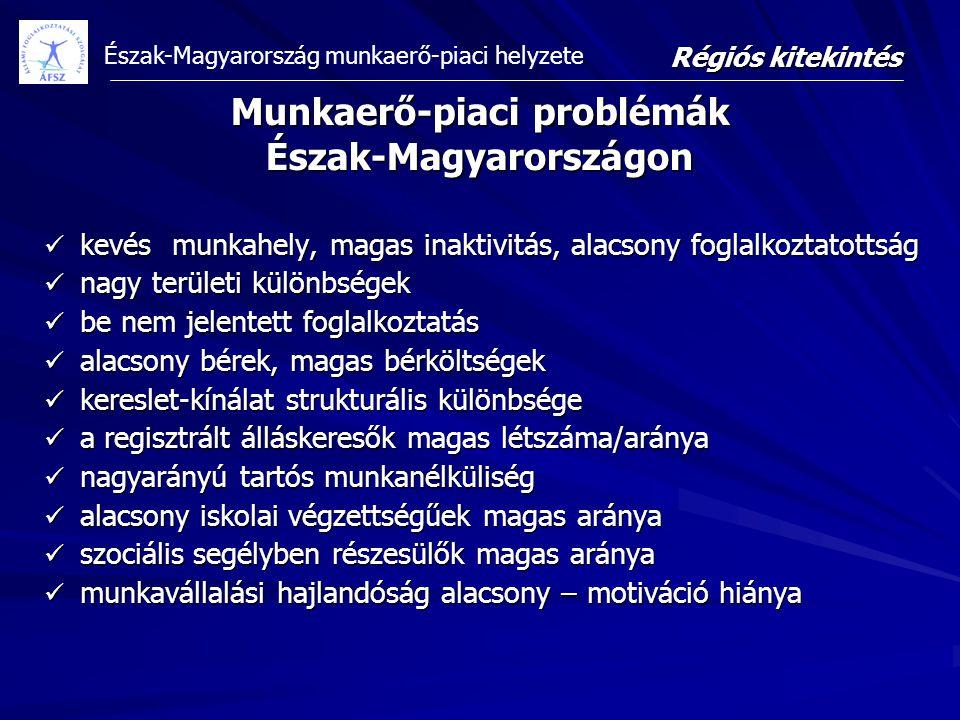 Munkaerő-piaci problémák Észak-Magyarországon