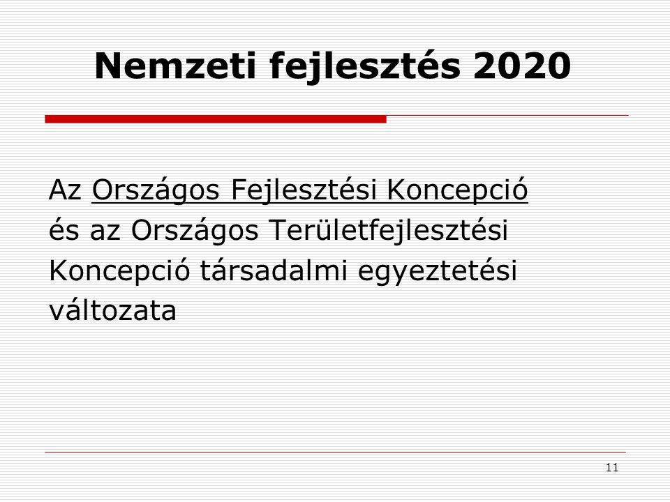 Nemzeti fejlesztés 2020 Az Országos Fejlesztési Koncepció
