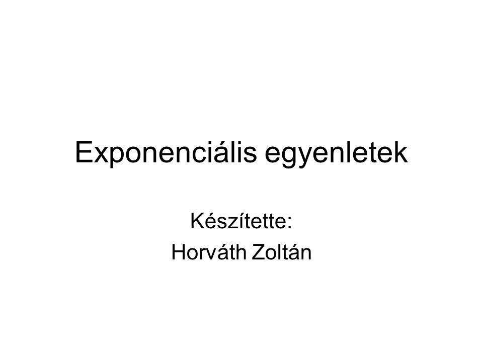 Exponenciális egyenletek