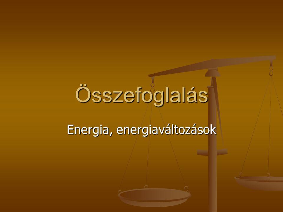 Energia, energiaváltozások
