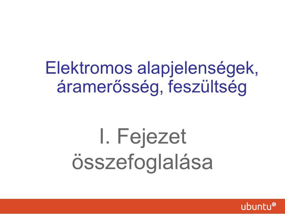 Elektromos alapjelenségek, áramerősség, feszültség