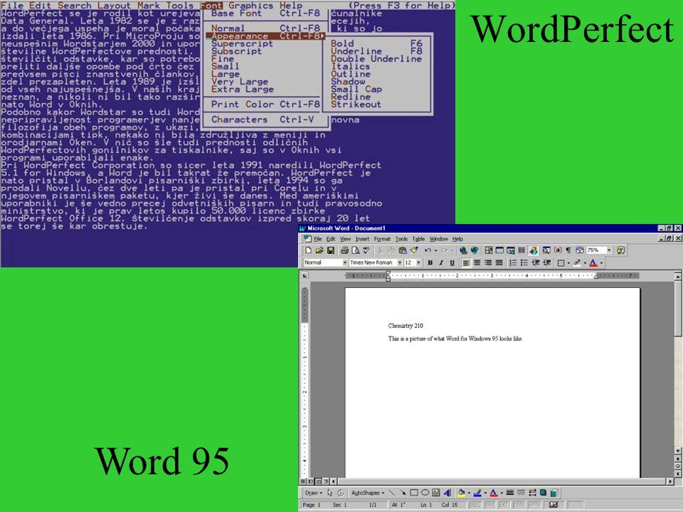 WordPerfect Word 95