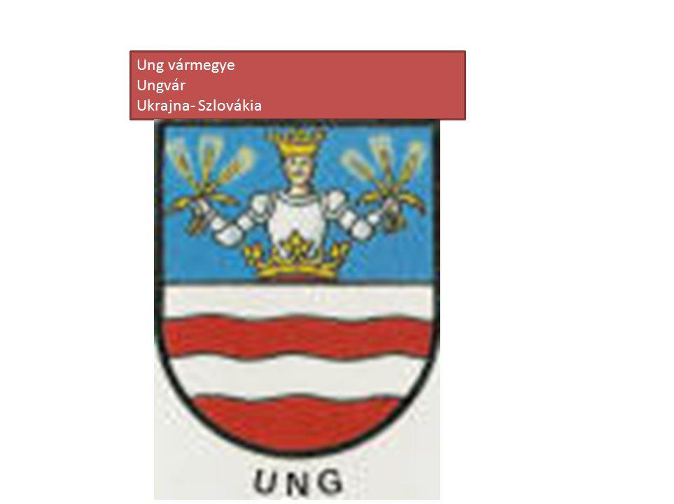 Ung vármegye Ungvár Ukrajna- Szlovákia