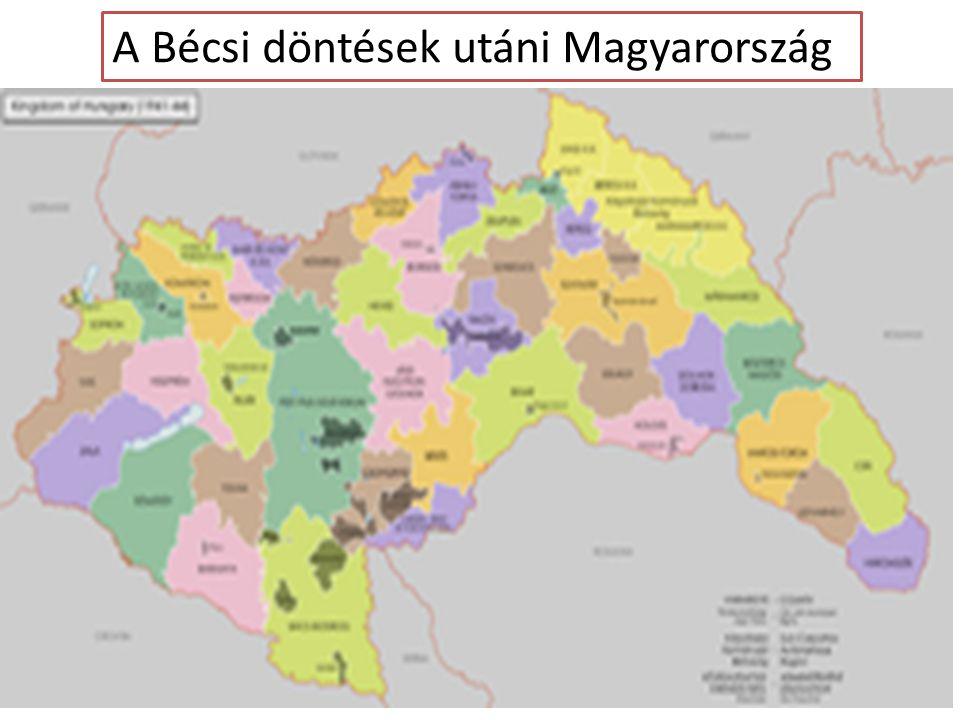 A Bécsi döntések utáni Magyarország