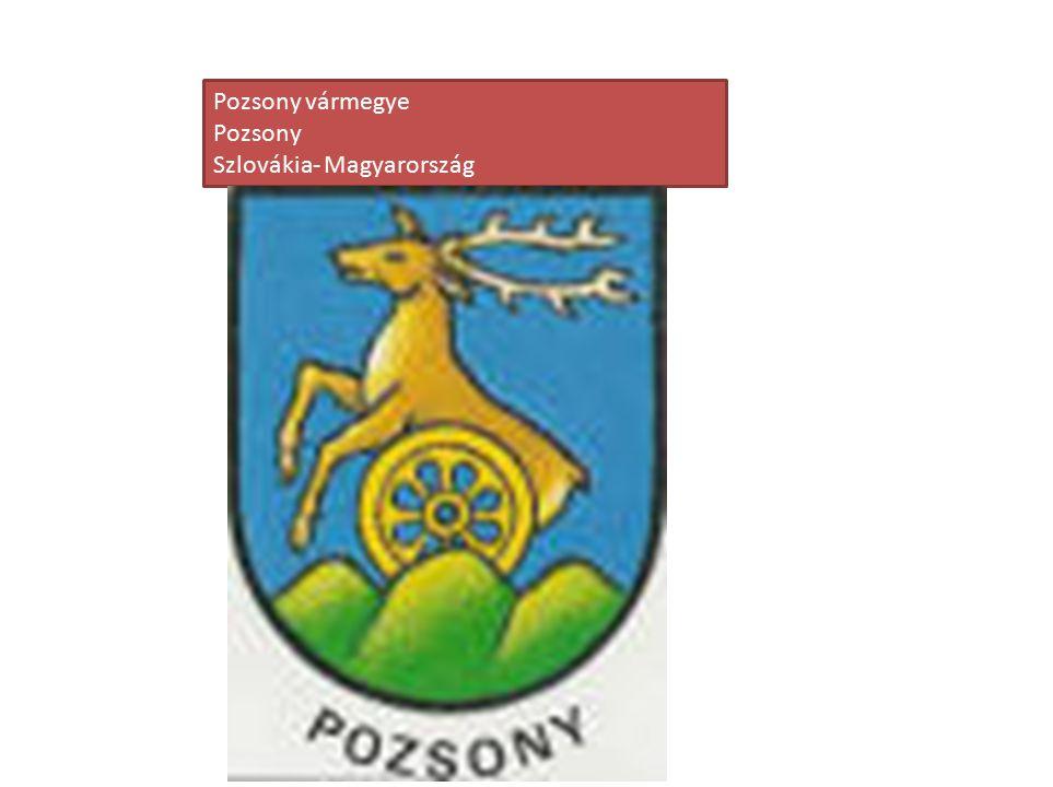Pozsony vármegye Pozsony Szlovákia- Magyarország