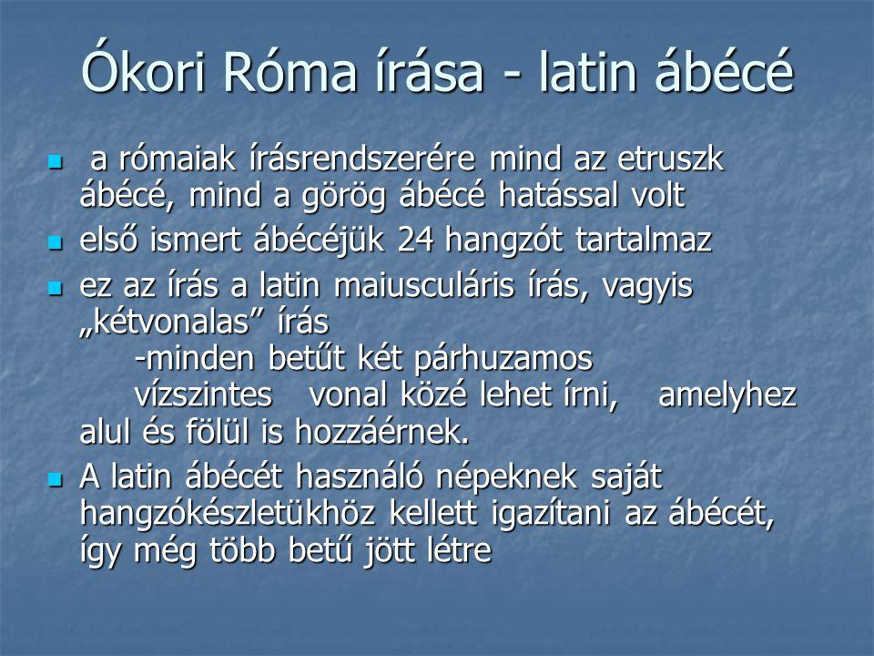 Ókori Róma írása - latin ábécé