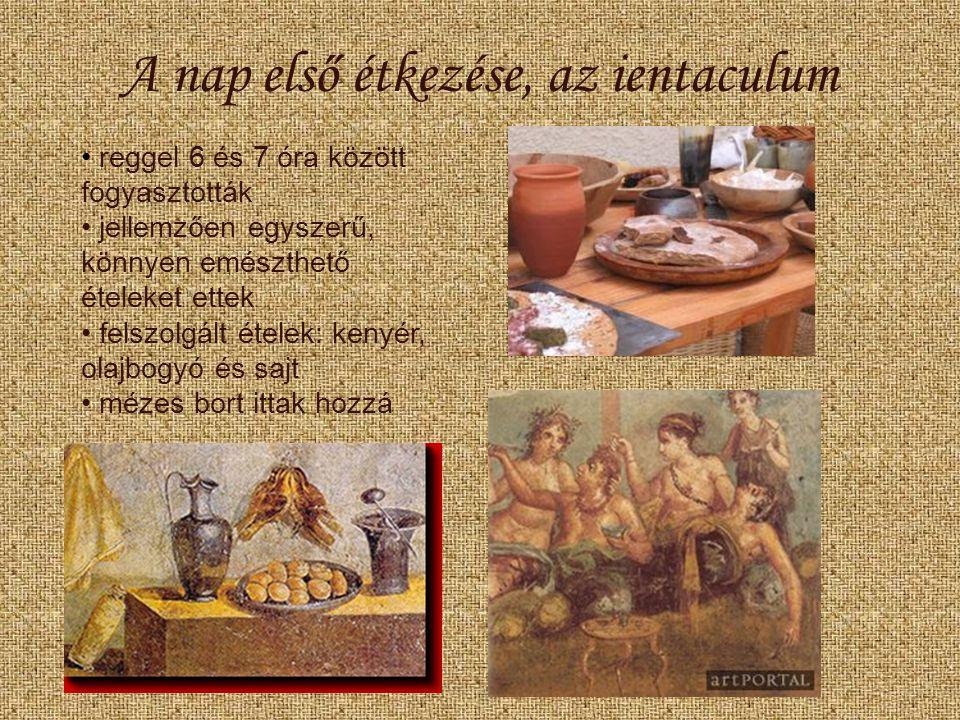A nap első étkezése, az ientaculum