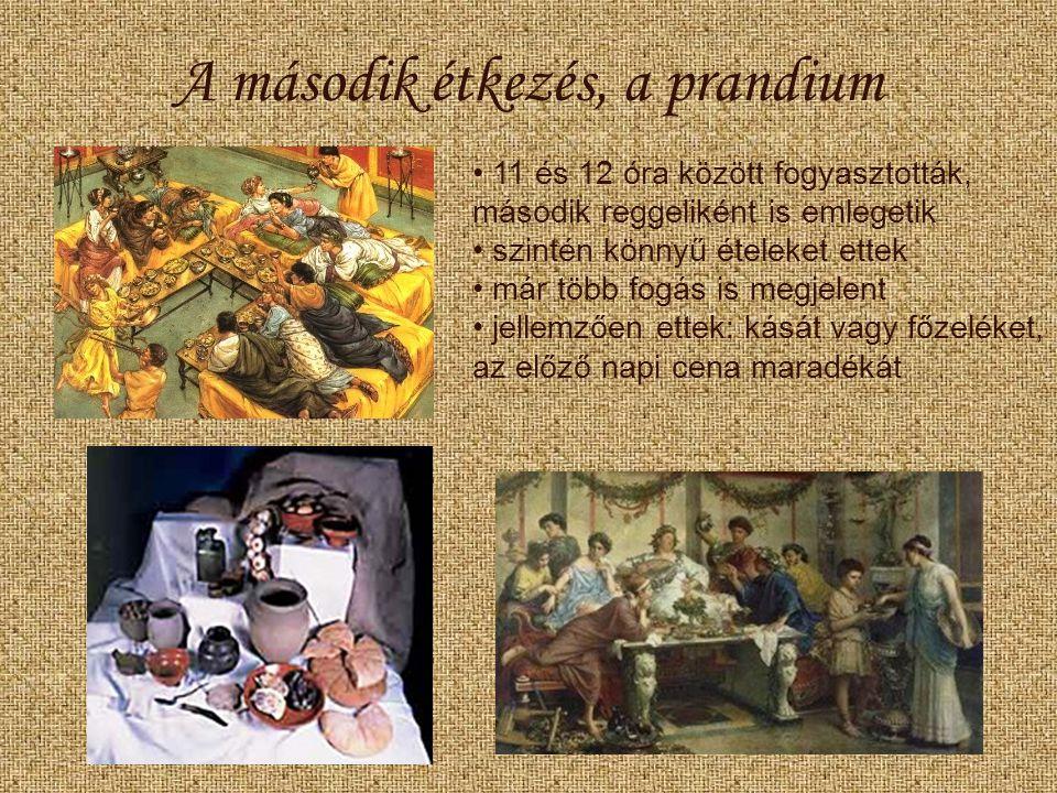A második étkezés, a prandium