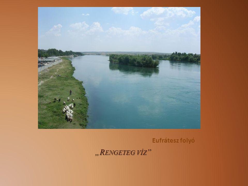 """Eufrátesz folyó """"Rengeteg víz"""