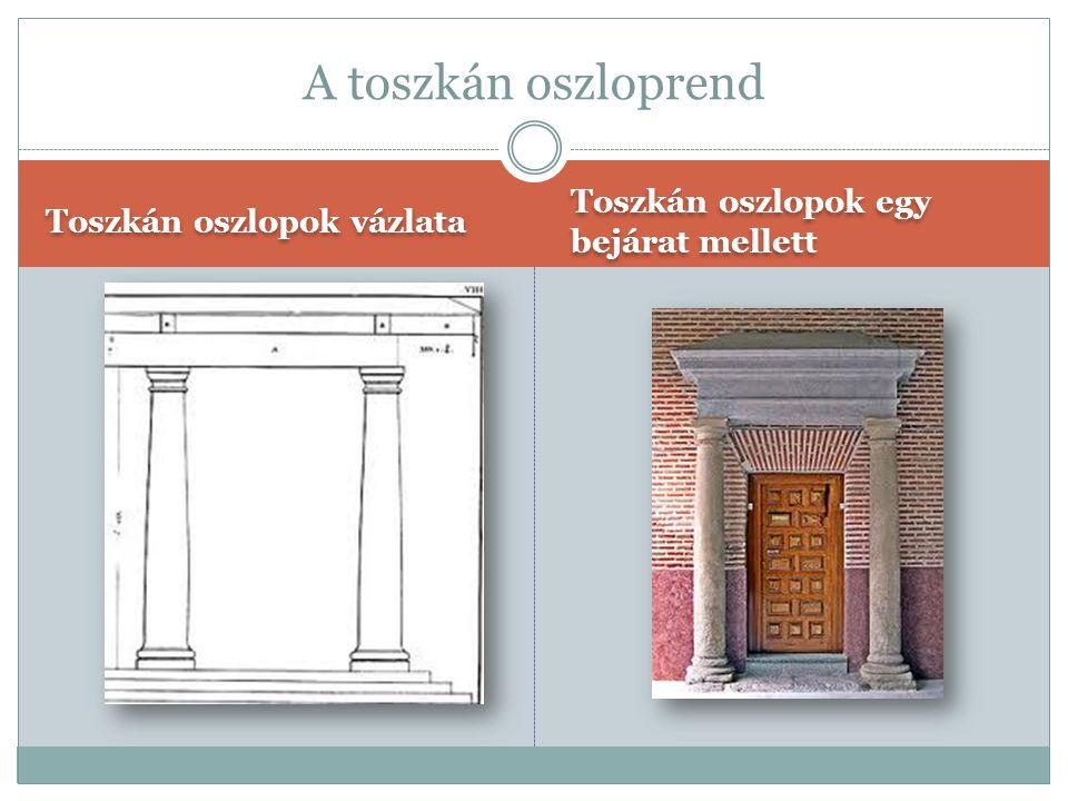 A toszkán oszloprend Toszkán oszlopok egy bejárat mellett