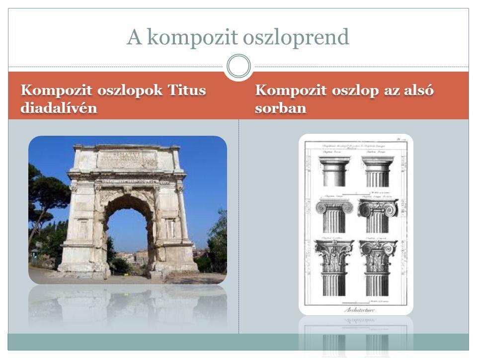 A kompozit oszloprend Kompozit oszlopok Titus diadalívén