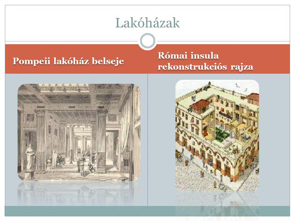 Lakóházak Pompeii lakóház belseje Római insula rekonstrukciós rajza
