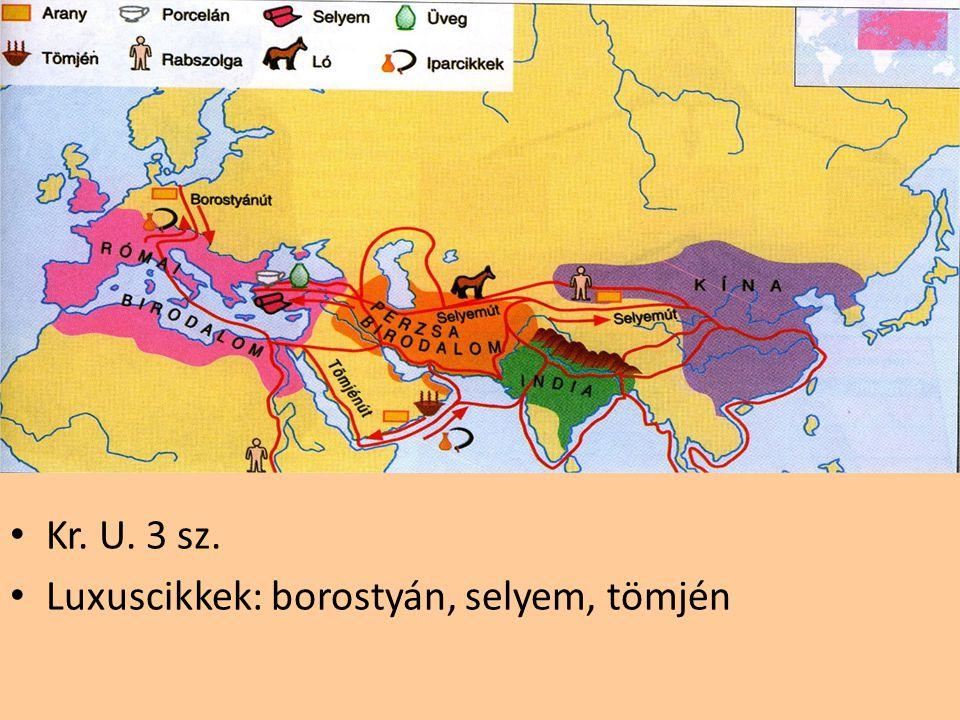 Kr. U. 3 sz. Luxuscikkek: borostyán, selyem, tömjén
