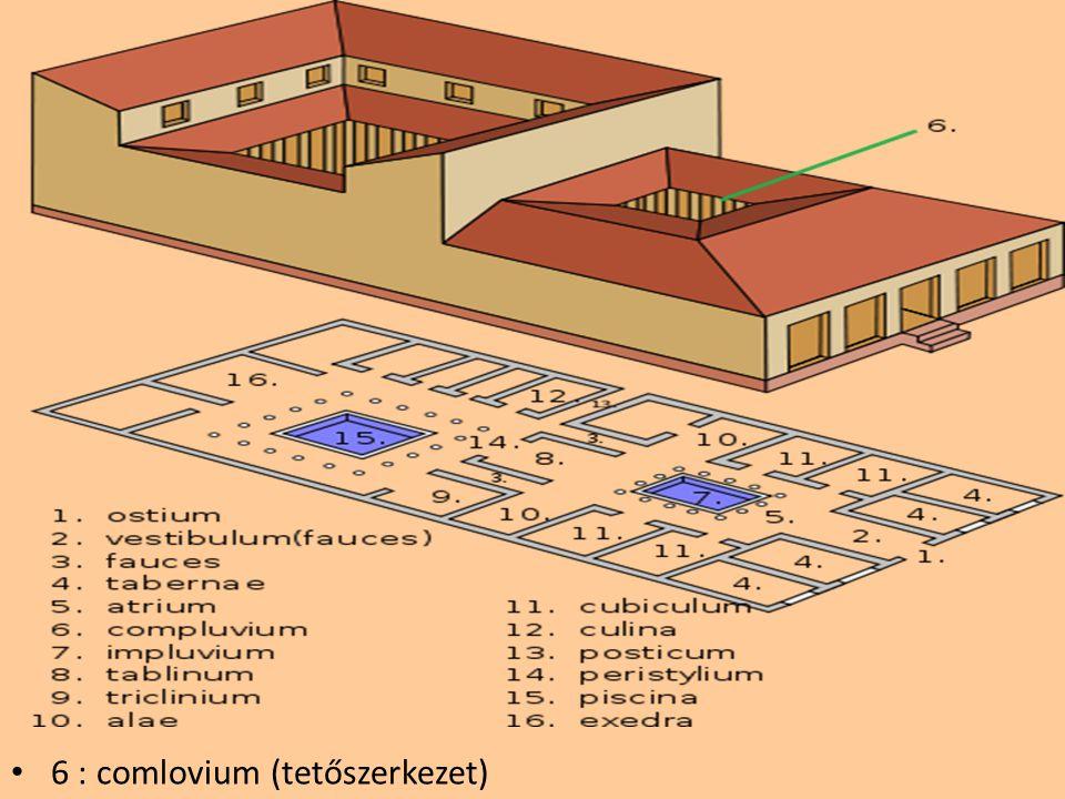 6 : comlovium (tetőszerkezet)