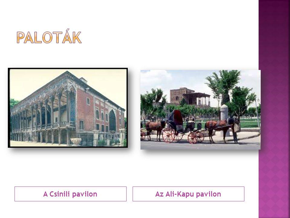 Paloták A Csinili pavilon Az Ali-Kapu pavilon