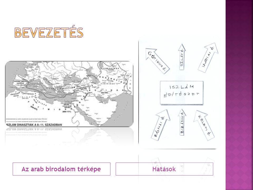 Az arab birodalom térképe