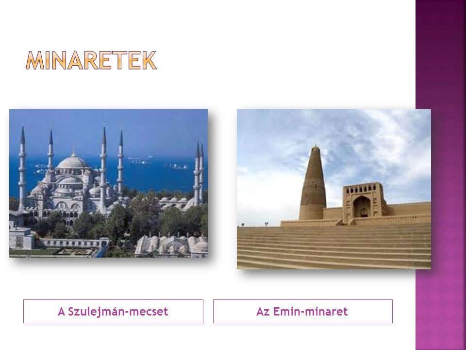 Minaretek A Szulejmán-mecset Az Emin-minaret