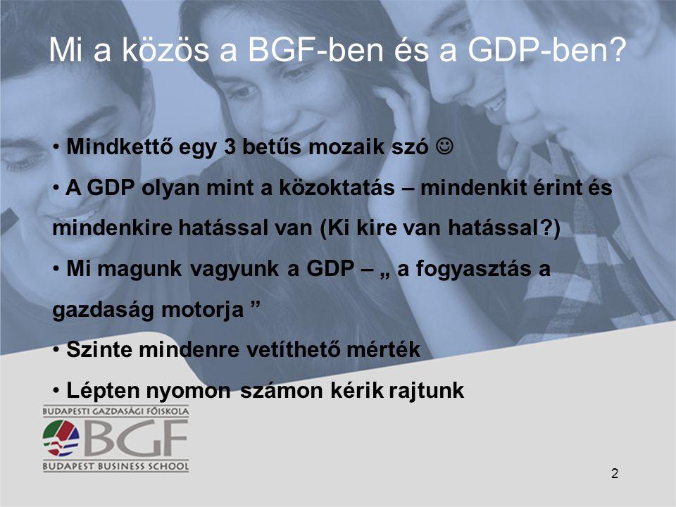 Mi a közös a BGF-ben és a GDP-ben