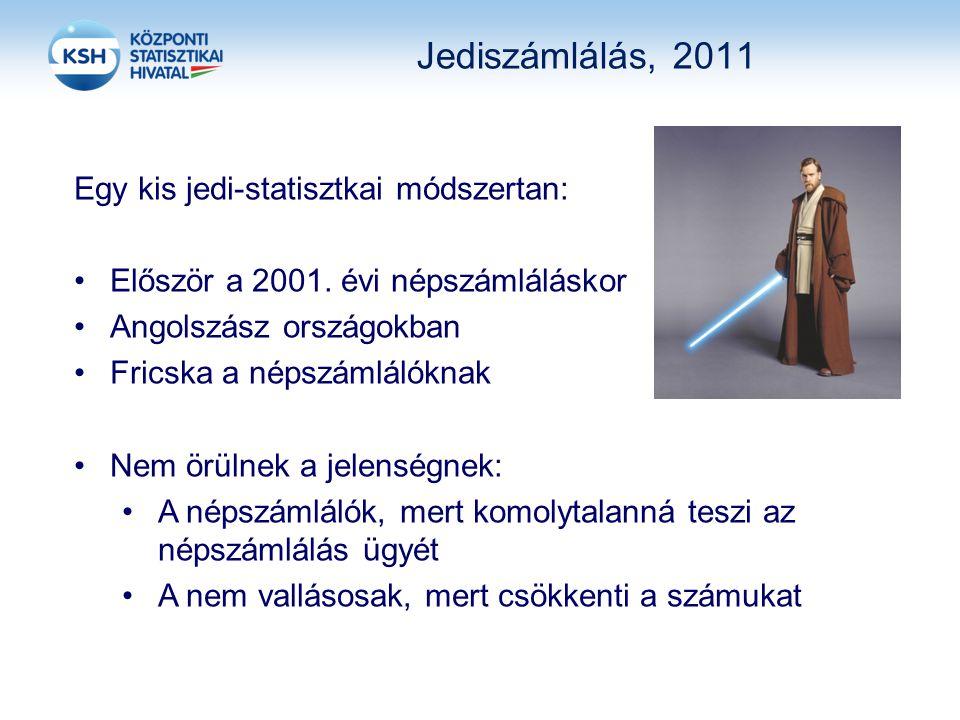 Jediszámlálás, 2011 Egy kis jedi-statisztkai módszertan: