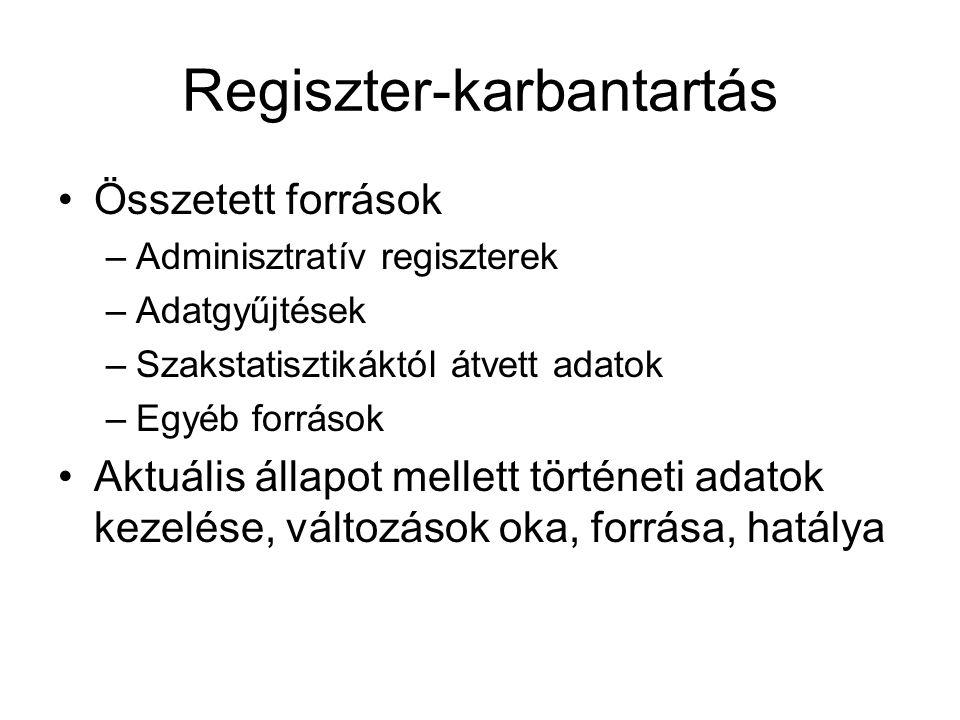 Regiszter-karbantartás
