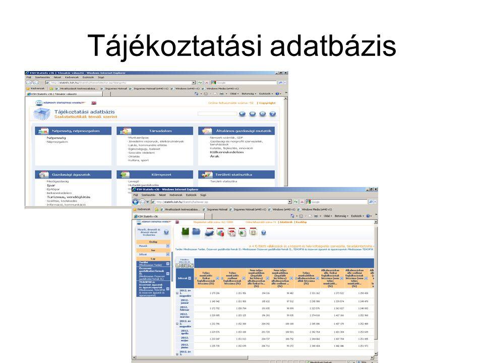 Tájékoztatási adatbázis