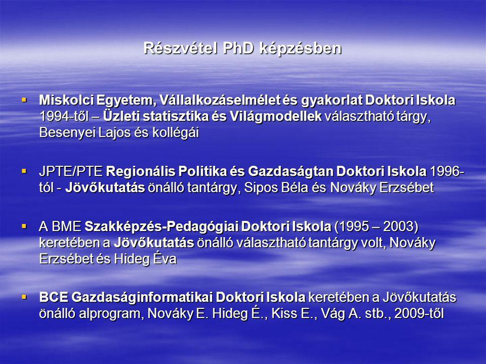 Részvétel PhD képzésben