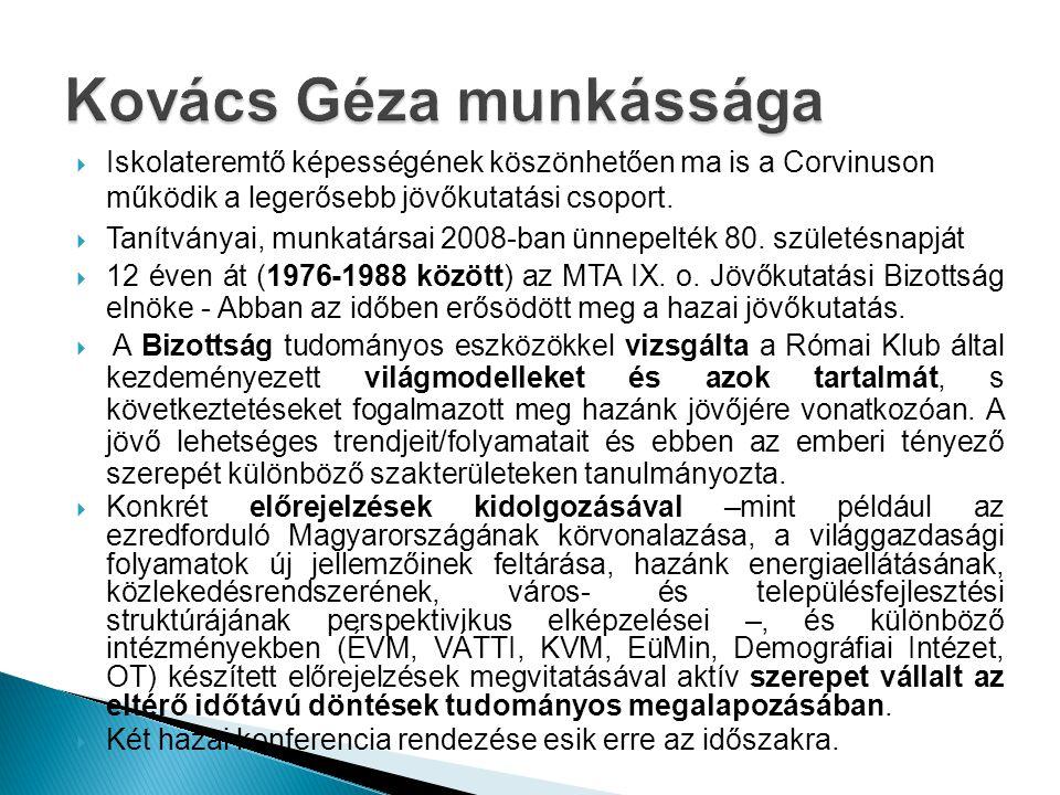 Kovács Géza munkássága