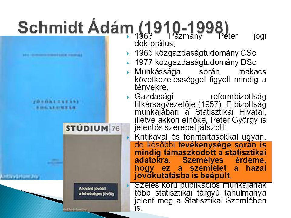 Schmidt Ádám (1910-1998) 1963 Pázmány Péter jogi doktorátus,