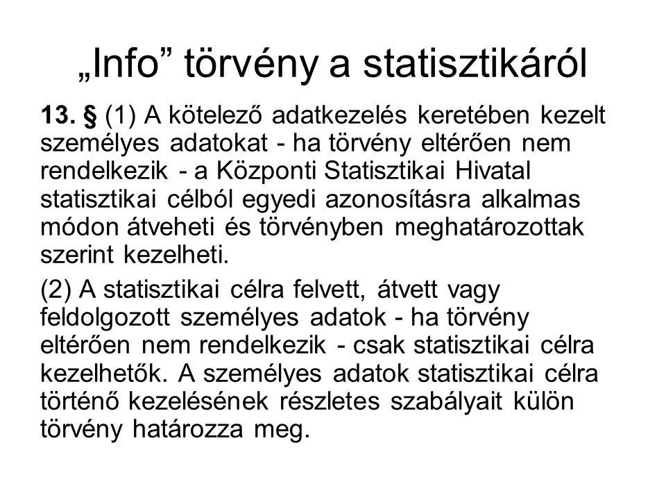 """""""Info törvény a statisztikáról"""
