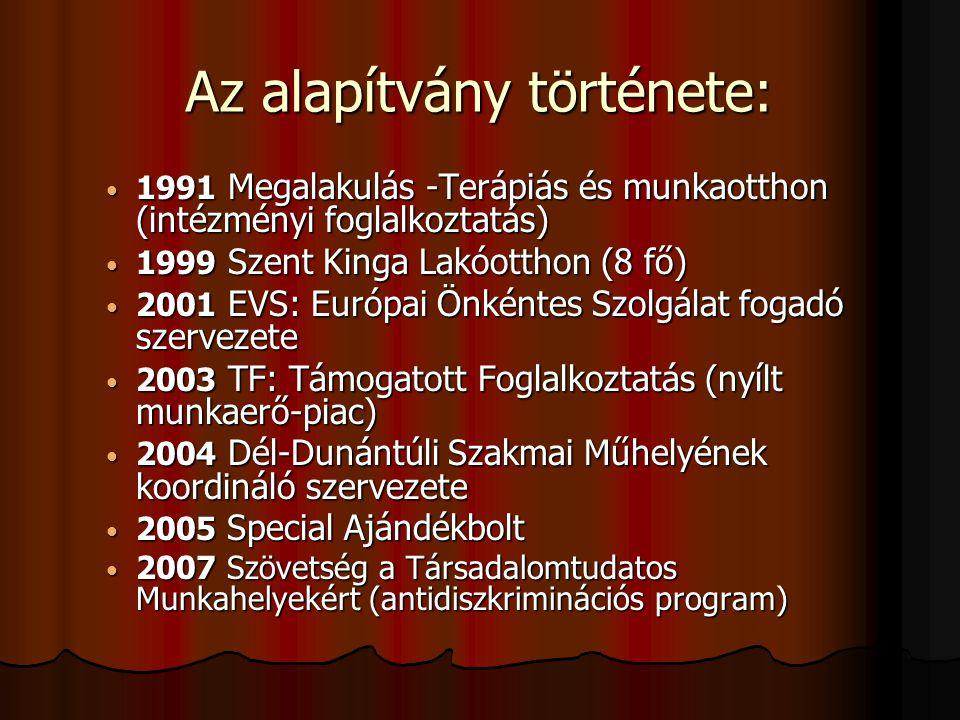 Az alapítvány története: