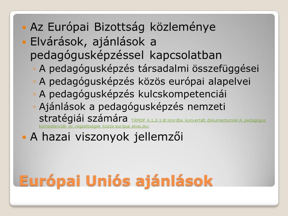 Európai Uniós ajánlások