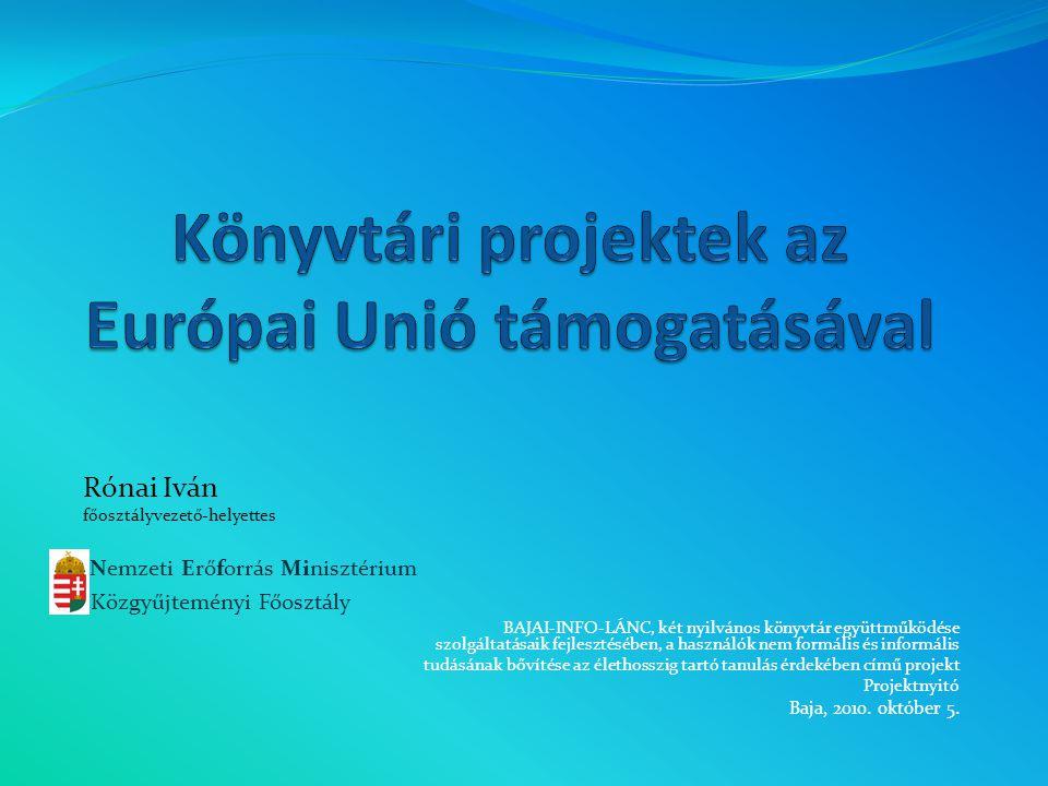 Könyvtári projektek az Európai Unió támogatásával