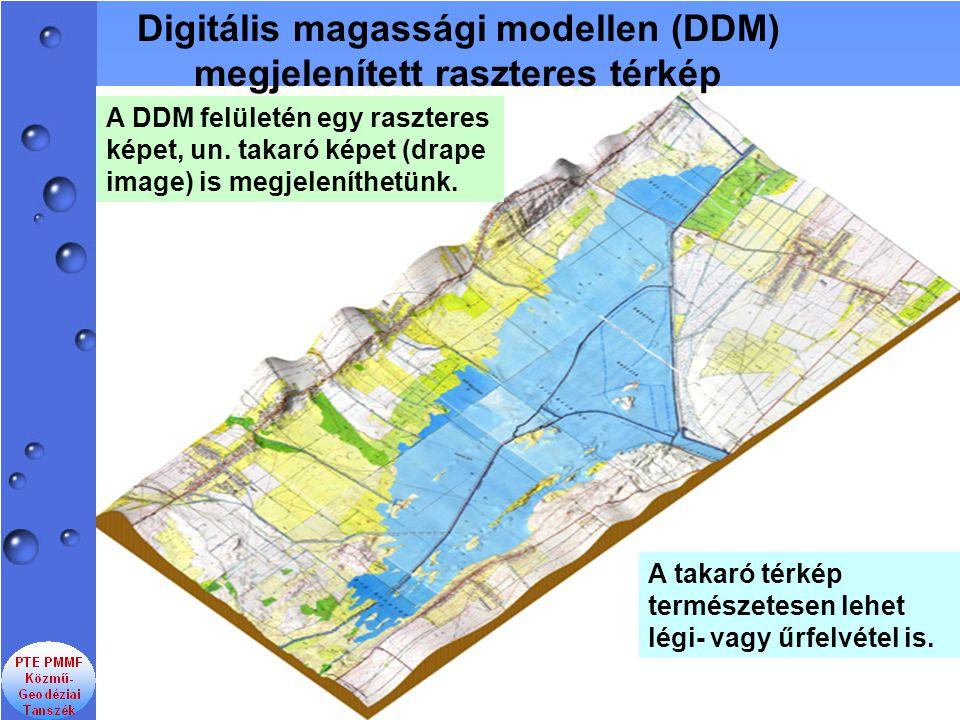 Digitális magassági modellen (DDM) megjelenített raszteres térkép
