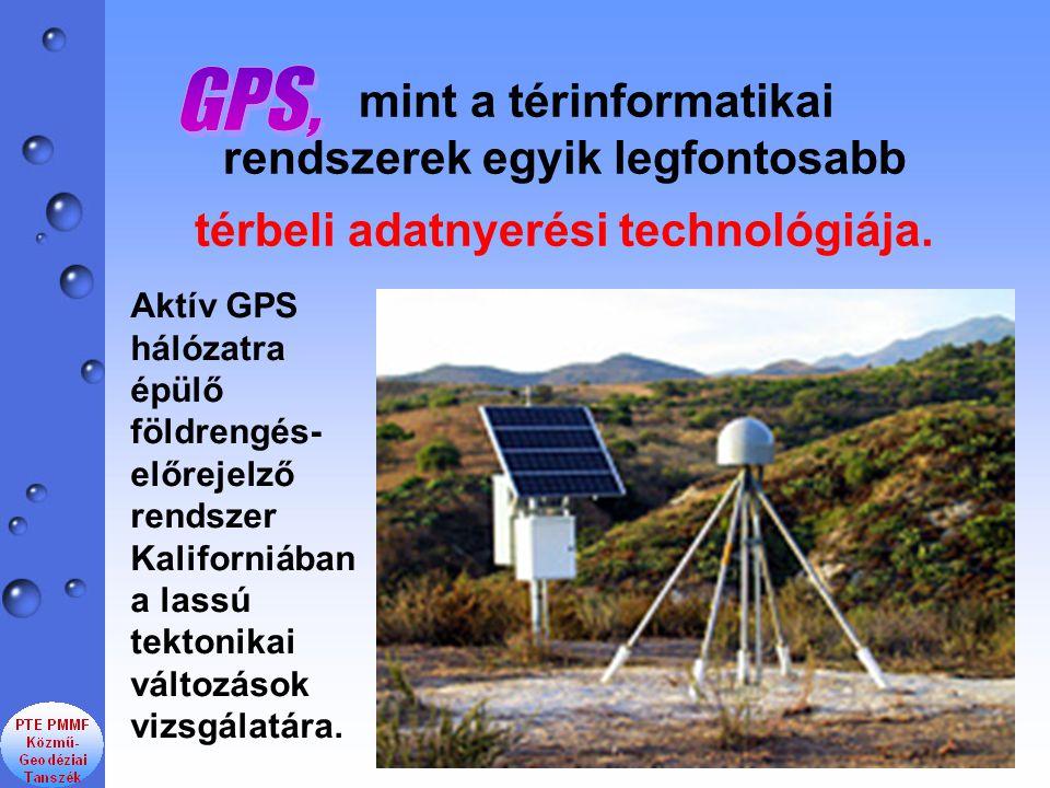 GPS, mint a térinformatikai rendszerek egyik legfontosabb térbeli adatnyerési technológiája.