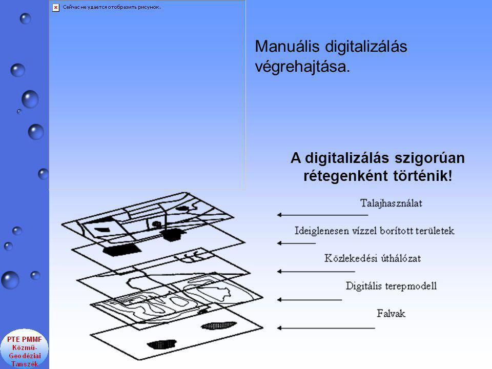 A digitalizálás szigorúan rétegenként történik!