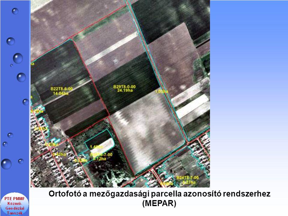 Ortofotó a mezőgazdasági parcella azonosító rendszerhez (MEPAR)