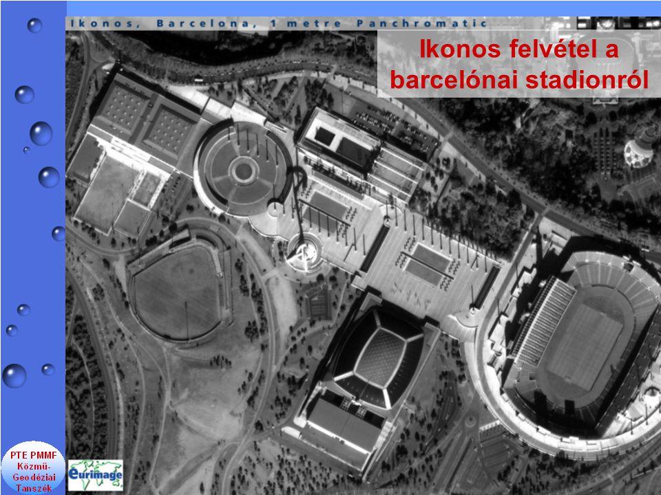 Ikonos felvétel a barcelónai stadionról