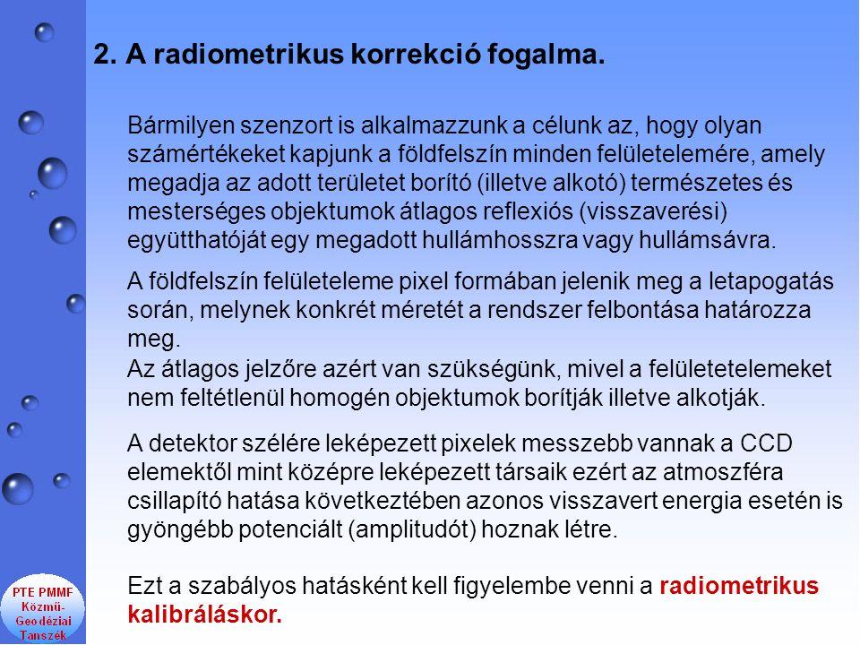 A radiometrikus korrekció fogalma.