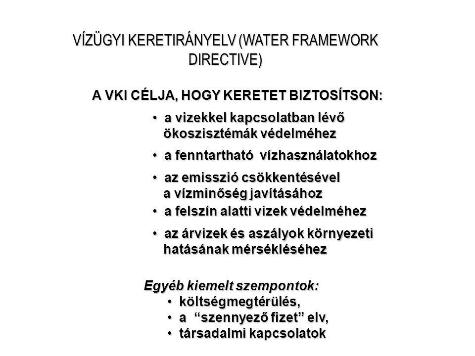 VÍZÜGYI KERETIRÁNYELV (WATER FRAMEWORK DIRECTIVE)