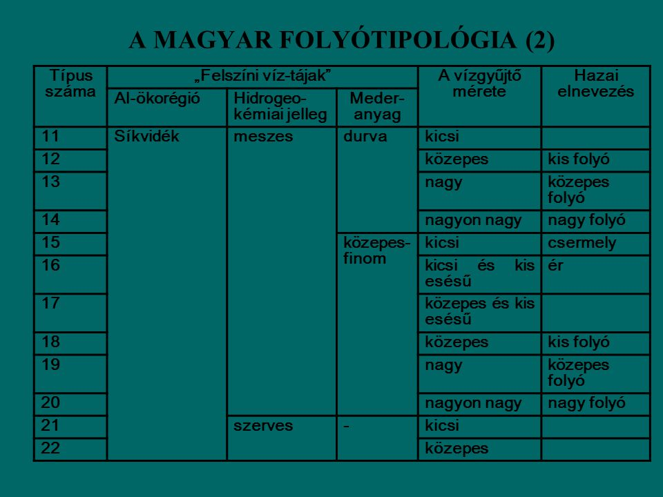 A MAGYAR FOLYÓTIPOLÓGIA (2)