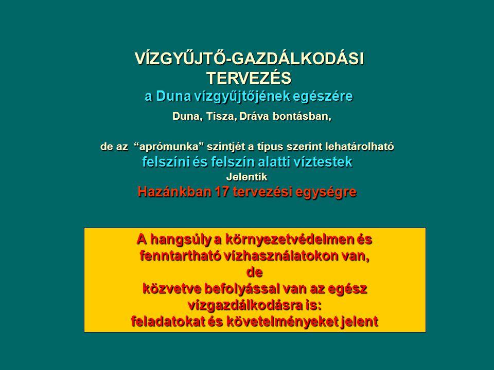 VÍZGYŰJTŐ-GAZDÁLKODÁSI TERVEZÉS