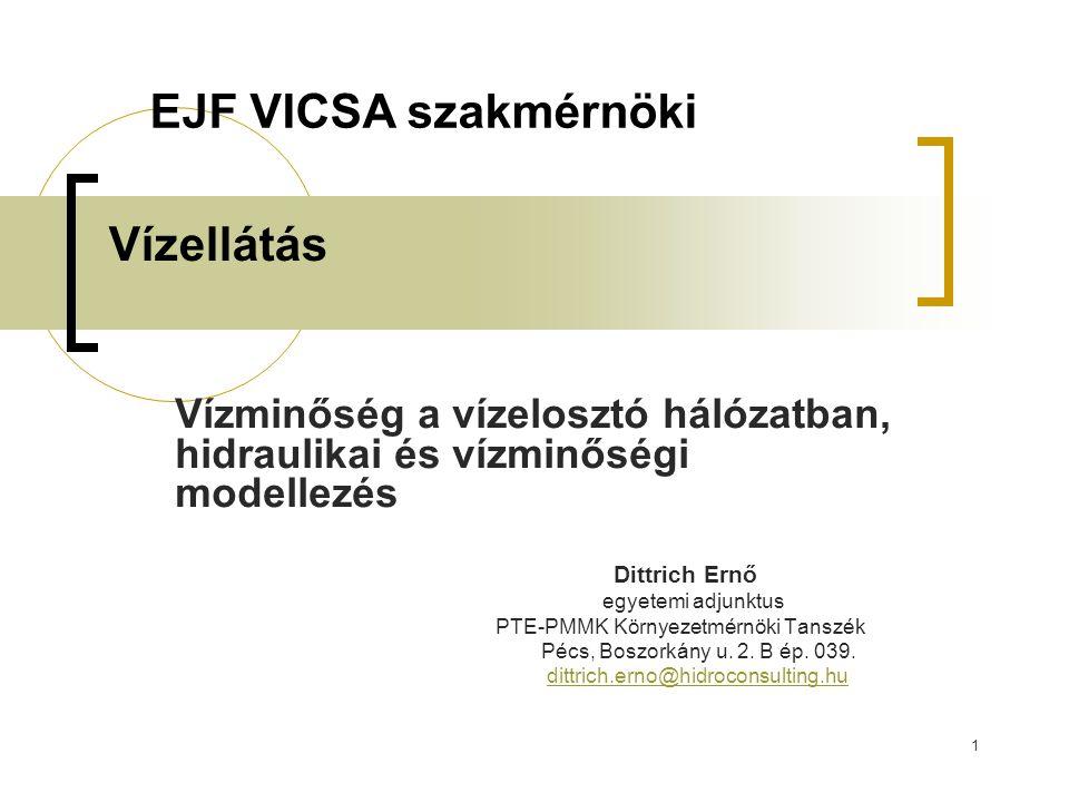 EJF VICSA szakmérnöki Vízellátás
