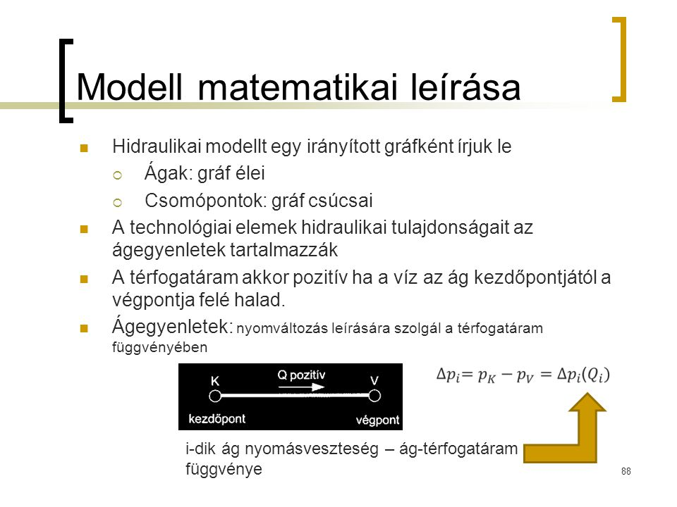 Modell matematikai leírása