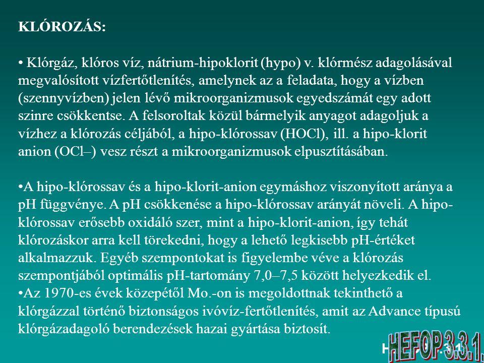 KLÓROZÁS: