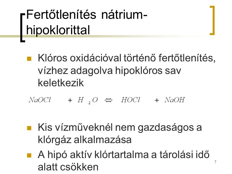 Fertőtlenítés nátrium-hipoklorittal