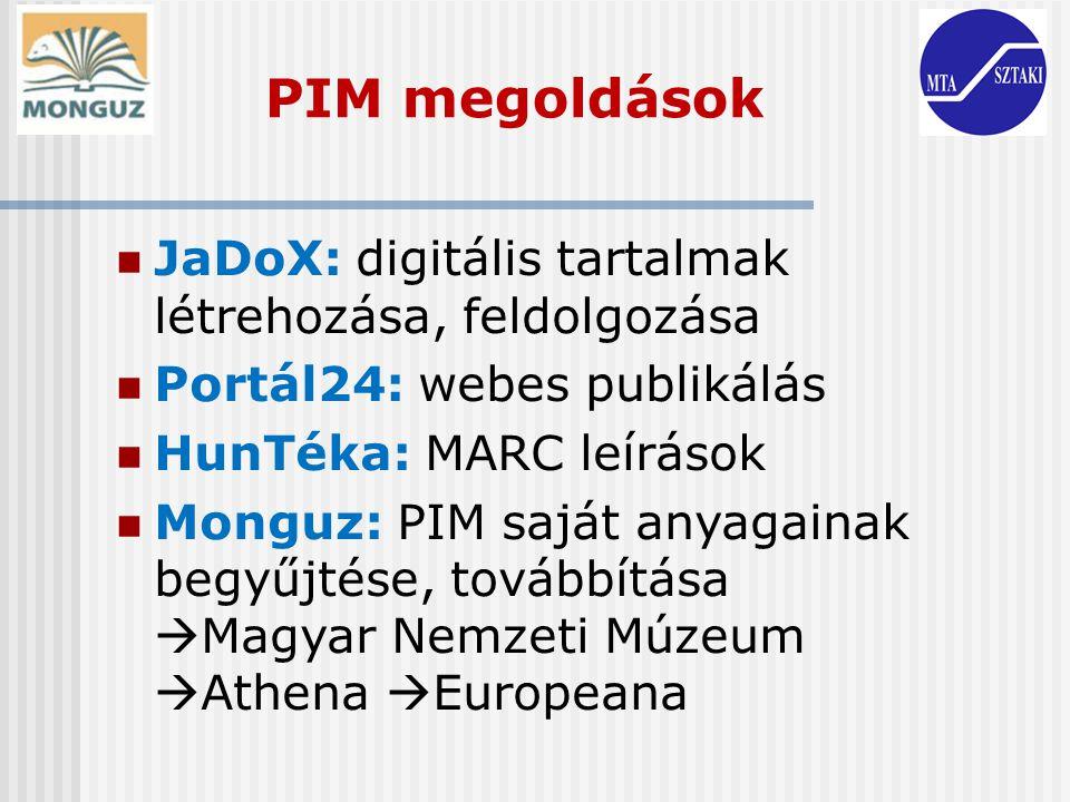 PIM megoldások JaDoX: digitális tartalmak létrehozása, feldolgozása
