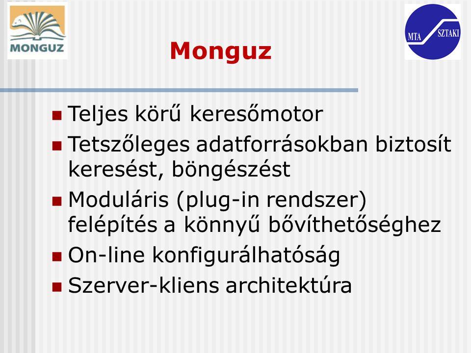 Monguz Teljes körű keresőmotor