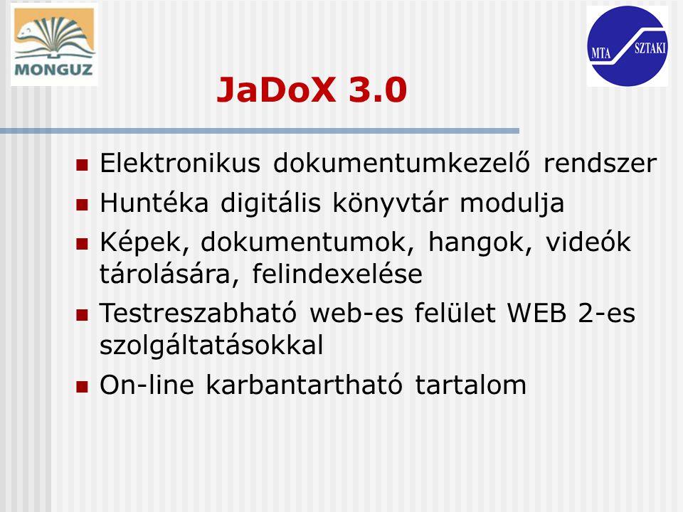 JaDoX 3.0 Elektronikus dokumentumkezelő rendszer