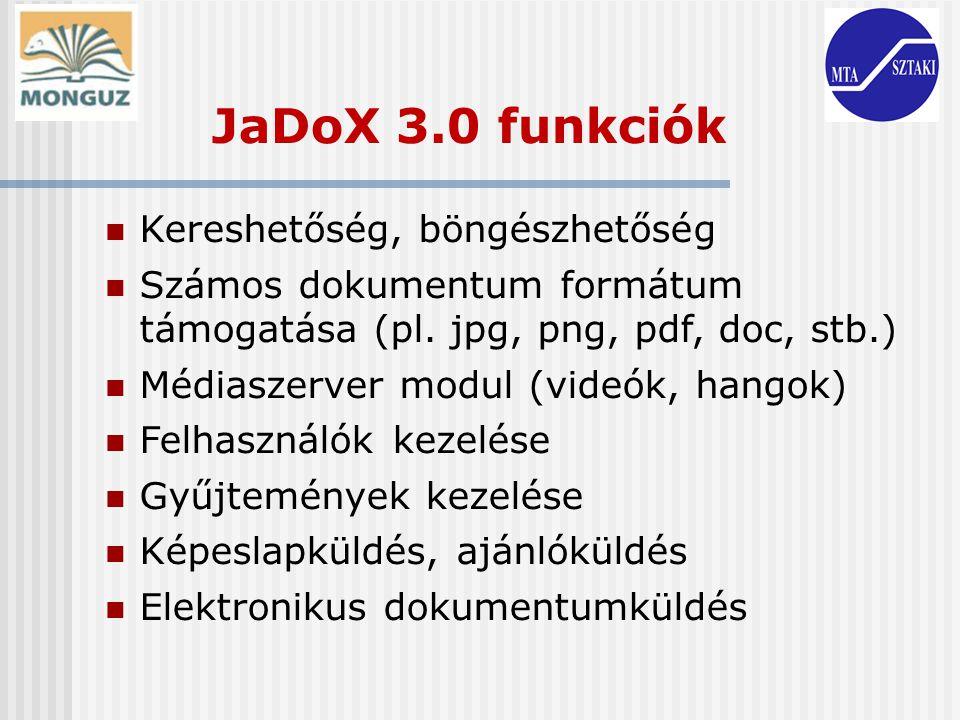 JaDoX 3.0 funkciók Kereshetőség, böngészhetőség