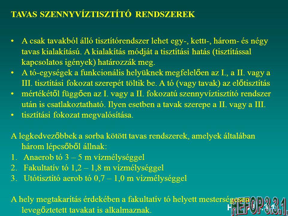 TAVAS SZENNYVÍZTISZTÍTÓ RENDSZEREK